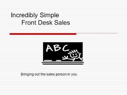Front Desk Upselling Skills For Room Selling Ppt Video Online Download