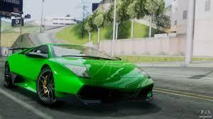 Lamborghini Murcielago Green - lamborghini murcielago lp670 4 sv 2010 for gta san andreas