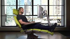 ergonomic lay down desk the 5 900 chair that lets you lay down on the job