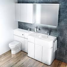 white bathroom furniture closeup of brellin white laminate