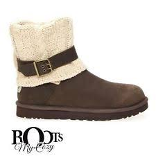 ugg womens boots size 11 ugg womens rosalie knit boots chocolate style 1009006 size 11 ebay