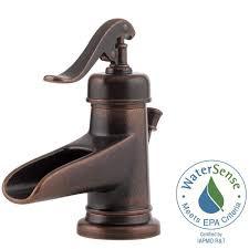 pfister bathroom sink faucets pfister ashfield 4 in centerset single handle bathroom faucet in