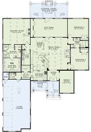 3 Bedroom Cabin Floor Plans by House Plan 82229 Attached Garage Front Rooms And Open Kitchens
