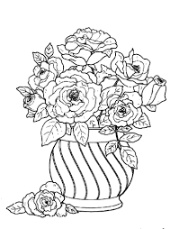 gorgeous ideas flower vase coloring pages colouring detailed