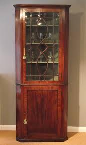 Curio Display Cabinets Uk Georgian Corner Display Cabinet Antique Corner Cupboard Wall