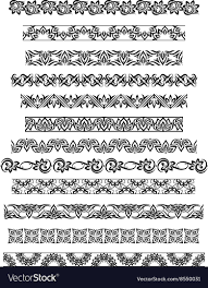 thai ornament border patterns with thai royalty free vector