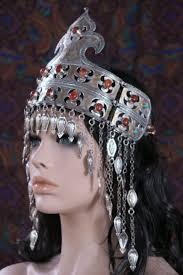 headpiece jewelry large turkmen tribal jewellery teke crown headpiece