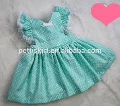 aqua green polka dot baby dress boutique girls dress kids