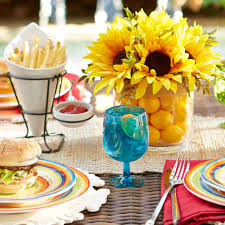 Sunflower Centerpiece Interior Home Decor For Dining Room Items With Sunflower