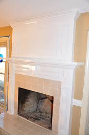 fireplace charming white fireplace mantel with tile wall