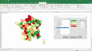 France Regions Map by Excel Map France Departments U0026 Regions How To Use The Software
