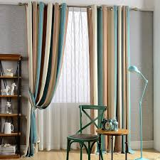 Striped Bedroom Curtains | hot sale chenille striped curtains in three colors