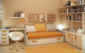 bedroom decor wooden desk study table floating shelf office within