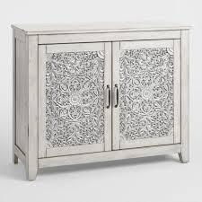 small gray mahogany wood verena storage cabinet world market