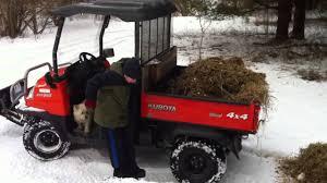 daniel dumping manure with the kubota rtv900 youtube
