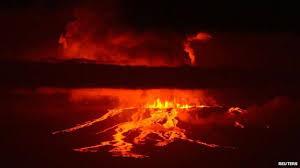wolf volcano erupts on galapagos island bbc news