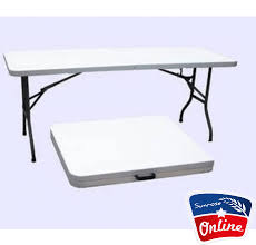 6 foot plastic table plastic folding table 6 foot sunrose online sa 031 207 8068