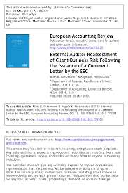 Financial Warranty Letter sec comment letters and financial statement restatements