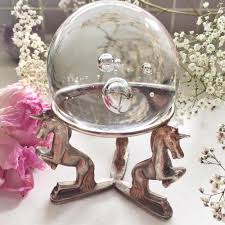 antique unicorn ring holder images Vintage unicorn crystal ball stand 1 unicornmanor jpg