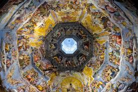 cupola s fiore vista interna di ultimo ciclo dell affresco di giudizio in cupola