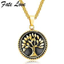 vintage mens necklace images Fate love tree of life necklace men jewelry stainless steel jpg