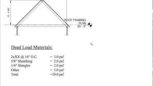 gable roof design example of a gable roof system part 1 youtube