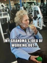 Granny Meme - granny working out meme slapcaption com workout because 5am is