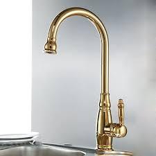 robinet laiton cuisine robinet de cuisine couleur dorée mitigeur de style contemporain