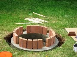 stone brick fire pit designs with stone bricks elliot fireplaces firepits