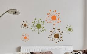 Funky Wall Clocks Furniture Funky And Colorful Starburst Wall Decor On White Wall