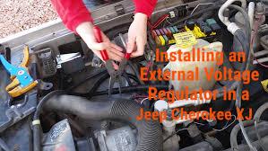 installing an external voltage regulator on a jeep cherokee xj