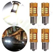 2x 60w bulbs cree xenon white led 1156 ba15s lamp 54 smd reverse