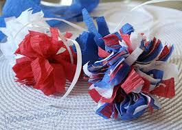 Homemade Pom Pom Decorations Easy Diy Pom Poms And Patriotic Decor 100 Directions