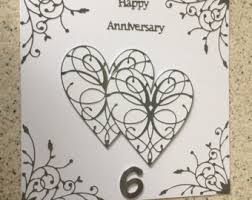 170 Wedding Anniversary Greetings Happy 6th Anniversary Card