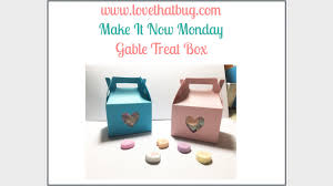 gable box with window cricut explore gable treat box youtube