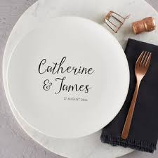 wedding plate personalised wedding signature plate by nation pottery