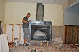 the 6 bears fireplace demolition