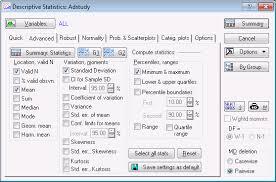 statistica help example 1 descriptive statistics t tests and