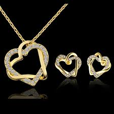 ladies necklace sets images Ladies jewellery sets necklace on the neck with rhinestones dubai jpg