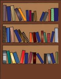 Bookcase With Books Book Clipart Image Clip Art Illustration Of A Bookshelf With Books