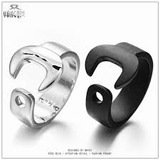 aliexpress buy 2017 new arrival mens ring fashion aliexpress buy 2017 new men wrench rings silver black biker