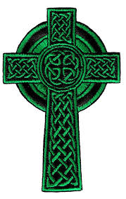 amazon com celtic cross iron on patch green embroidered relgious