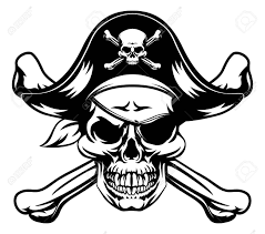 pirate skull and crossbones royalty free cliparts vectors and