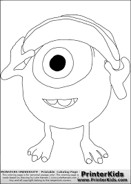 monsters university coloring pages mike monsters monsters