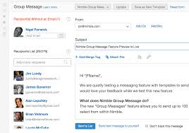 nimble adds group messaging templates u0026 campaign reports the
