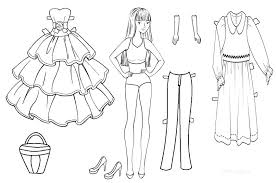 printable paper dolls paper dolls coloring pages paper doll coloring page paper doll