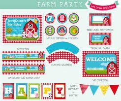farm party printable leo loves invitations