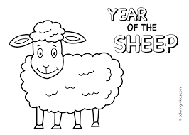 sheep coloring page coloringeast com