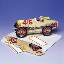 vintage race car pop up card gift cards all occasion pop up