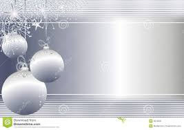 hanging silver christmas ornaments background royalty free stock